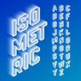 Isometric 3d font. Three-dimensional alphabet letters stock illustration