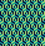 Isometric 3d hexagon seamless pattern background Stock Photo