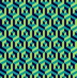 Isometric 3d hexagon seamless pattern background Stock Photo