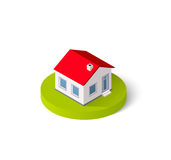 Isometric 3D icon. House home. Residence building the city landscape three-dimensional vector symbol concept Stock Image