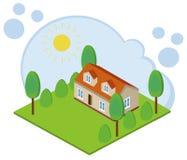 Isometric 3D house stock illustration