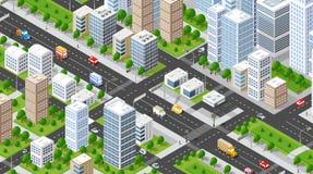 Isometric illustration city Royalty Free Stock Photo