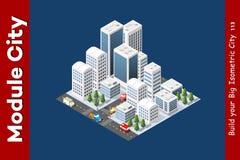 Isometric 3D krajobrazu wierzchołek Ilustracja Wektor