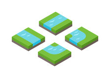 Isometric 3d land agriculture landscape vector illustration Royalty Free Stock Photos
