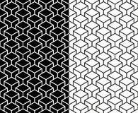 Isometric 3d line cube pattern background. Set of Isometric 3d line cube seamless pattern background. Ideal for fabric design, wrapping paper and website royalty free illustration