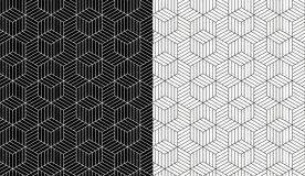 Isometric 3d line cube pattern background Stock Photography