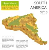 Isometric 3d South America physical map elements. Build your own Stock Photography