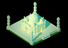 Isometric 3d Taj Mahal Royalty Free Stock Images