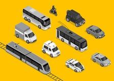 Isometric 3d Transport Set Flat Design Stock Image