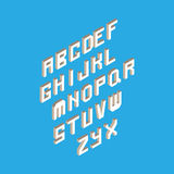 Isometric 3d type font set  background illustration. EPS10 vector file. Royalty Free Stock Image