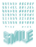 Isometric 3d type font set Royalty Free Stock Images
