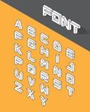 Isometric 3d type font. Set. Vector illustration Stock Image