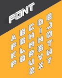 Isometric 3d type font set royalty free illustration