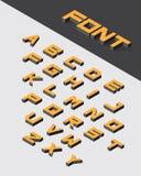 Isometric 3d type font set. Vector illustration Royalty Free Stock Image