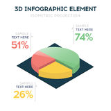 Isometric 3d vector chart Stock Photography