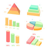 Isometric 3d vector charts.  layers graphs and Stock Photography
