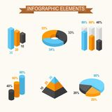 Isometric 3d vector. Infographic elements Royalty Free Stock Photos
