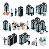 Isometric Data Center Collection vector illustration