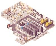 Isometric data center interior royalty free stock photo
