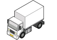Isometric Delivery Truck Stock Images
