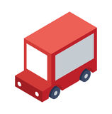 Isometric Delivery Truck Object or Icon - Element for Web, Tileset Map, Landscape Design, Urban Architecture Royalty Free Stock Images