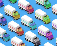 Isometric Delivery Van Car Icon Royalty Free Stock Images