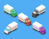 Isometric Delivery Van Car Icon Royalty Free Stock Photography