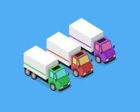 Isometric Delivery Van Car Icon Stock Photo