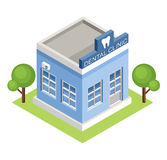 Isometric dental clinic. Royalty Free Stock Photos