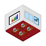 Isometric design course room vector. royalty free illustration