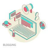 Isometric design modern concept of blogging Stock Image