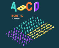 Isometric Design Style Alphabet Stock Photography