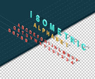 Isometric Design Style Alphabet Stock Photos