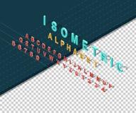 Isometric Design Style Alphabet Stock Photos