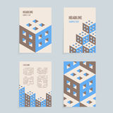 Isometric design template. A4 vector isometric design template for booklet, brochure or book royalty free illustration