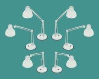 Isometric desk lamp Royalty Free Stock Image