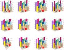 Isometric diagram columns Stock Image