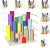 Isometric diagram columns Royalty Free Stock Photography