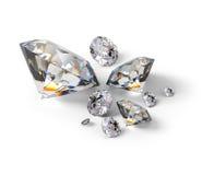 Isometric diamonds. 3d image. white background stock illustration