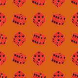 Isometric Dice Number Lucky Game Fortune Casino Seamless Pattern Variants Loss Gamble Cube Vector Illustration. Royalty Free Stock Photo