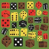 Isometric dice number lucky game fortune casino variants loss gamble cube vector illustration. Set of isometric dice number lucky symbol. Game fortune casino royalty free illustration