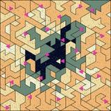 Isometric digital pattern Royalty Free Stock Photo