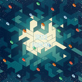 Isometric digital pattern Royalty Free Stock Photo