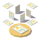 Isometric Diploma in the Frame Royalty Free Stock Image