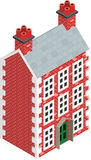 Isometric Dolls House Drawing with solid fill. Isometric Drawing of a three story Dolls House Royalty Free Stock Photos
