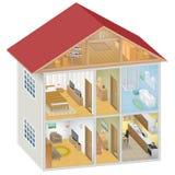 Isometric Domowy wnętrze ilustracja wektor