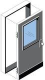 Isometric Door Royalty Free Stock Photos