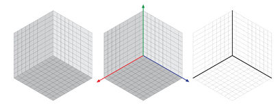 Isometric drawing a thirty degreesangle is applied to its sides. The cube opposite. Isometric Grid vector. Illustration Stock Image