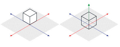 Isometric drawing a thirty degreesangle is applied to its sides. The cube opposite. Isometric Grid vector. Illustration Stock Images