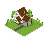 Isometric Duży dom Obraz Royalty Free